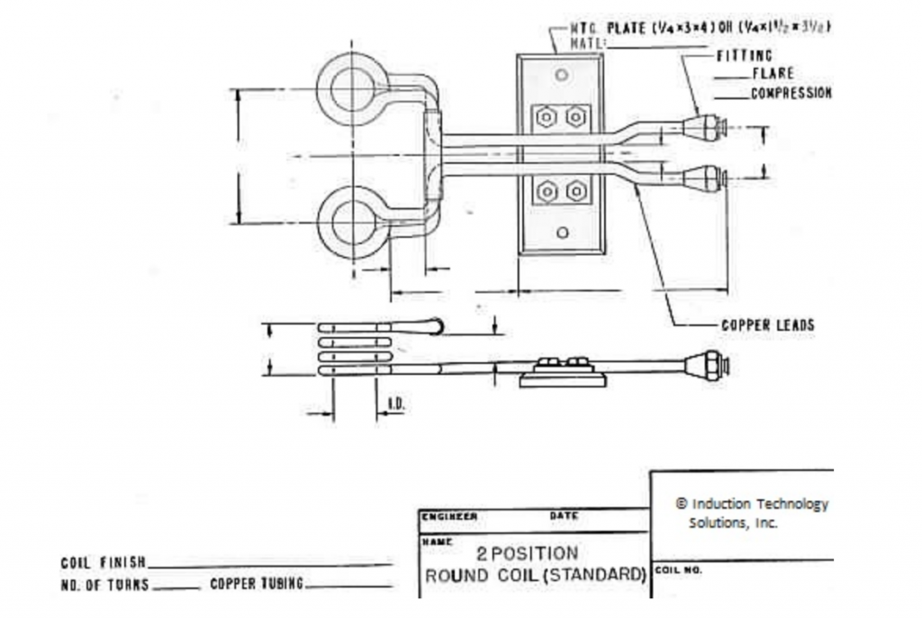 2 position round induction coil
