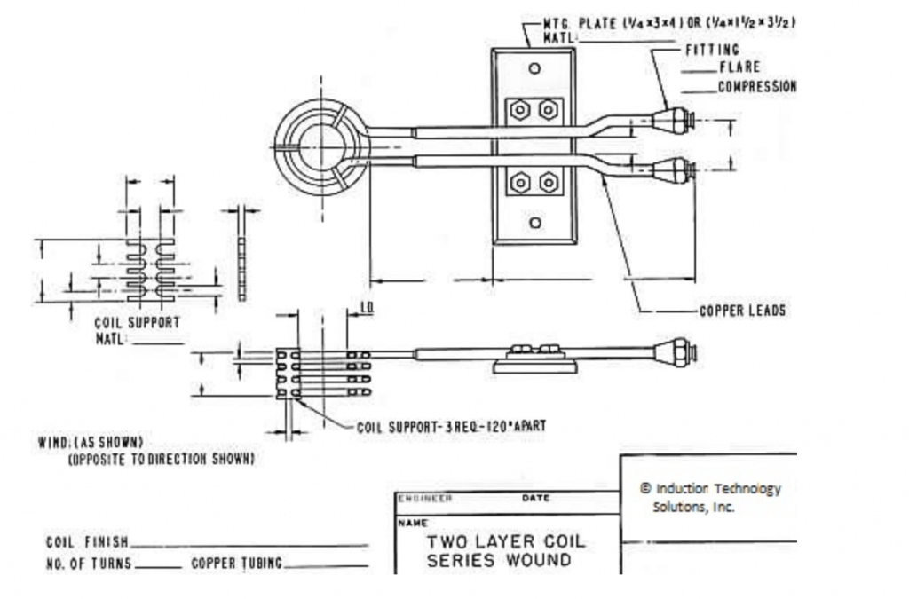 Two Layer Induction Coil Series Wound